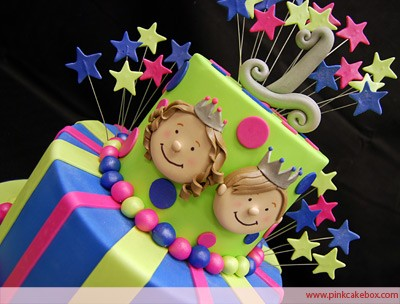 Twins prince princess cake