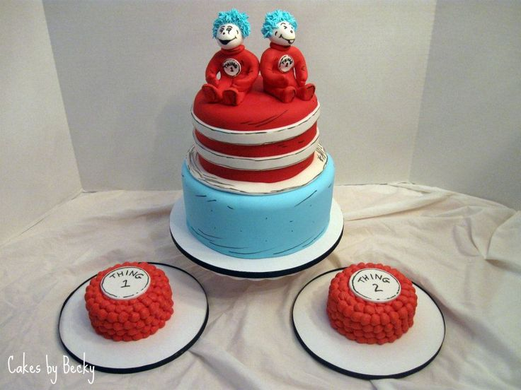 thing one thing two twins cake