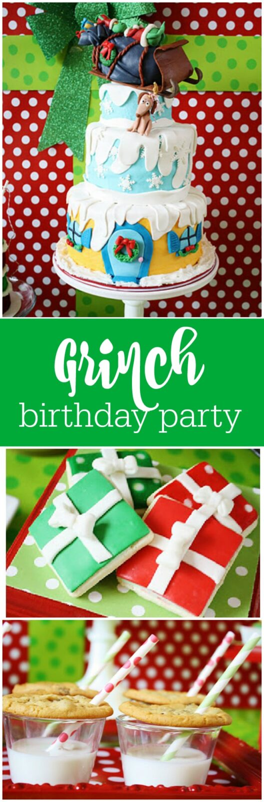 Darling Grinch first birthday party by And Everything Sweet featured on The Party Teacher