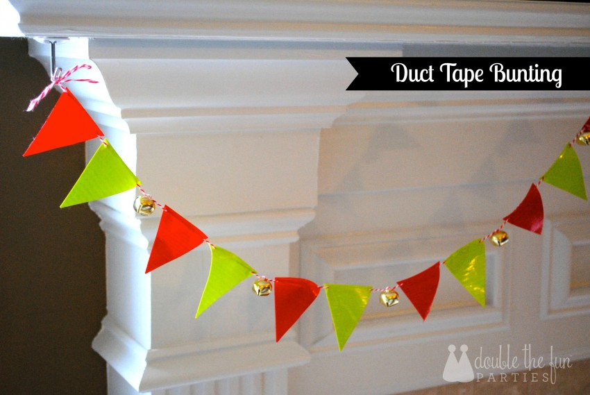Duct tape bunting by Double the Fun Parties