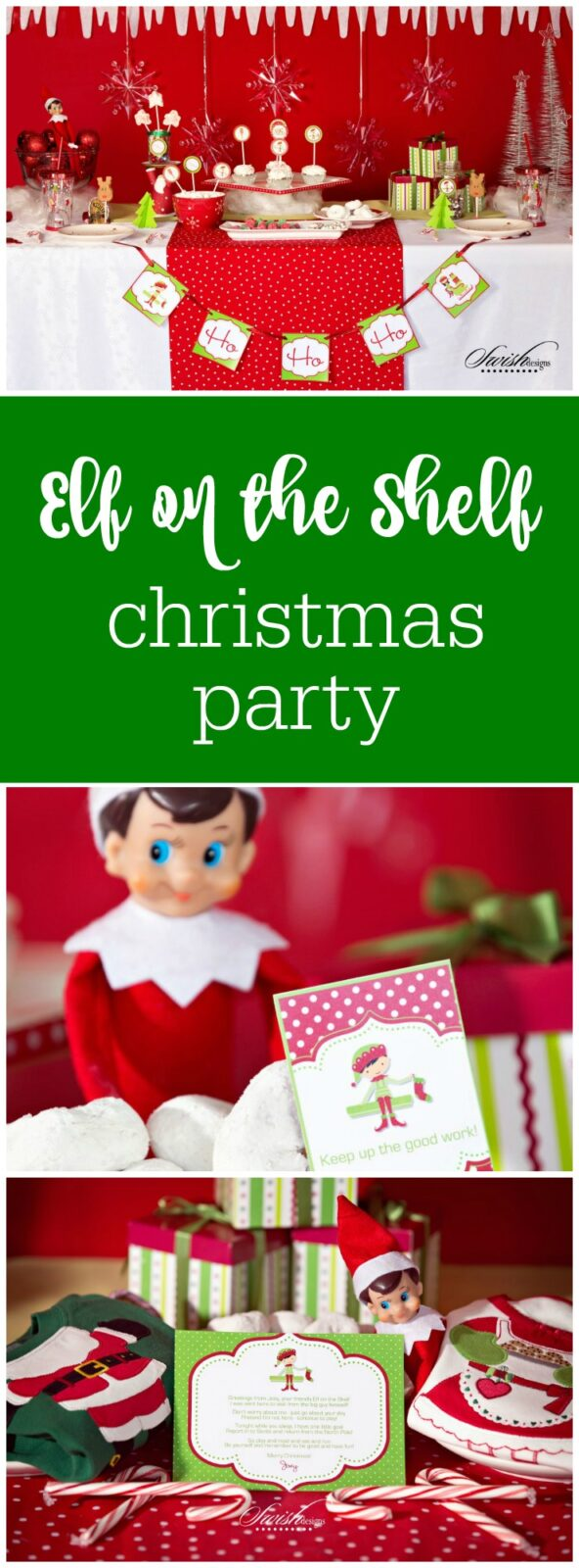 Elf on the Shelf Christmas Party by Swish Printables featured on The Party Teacher