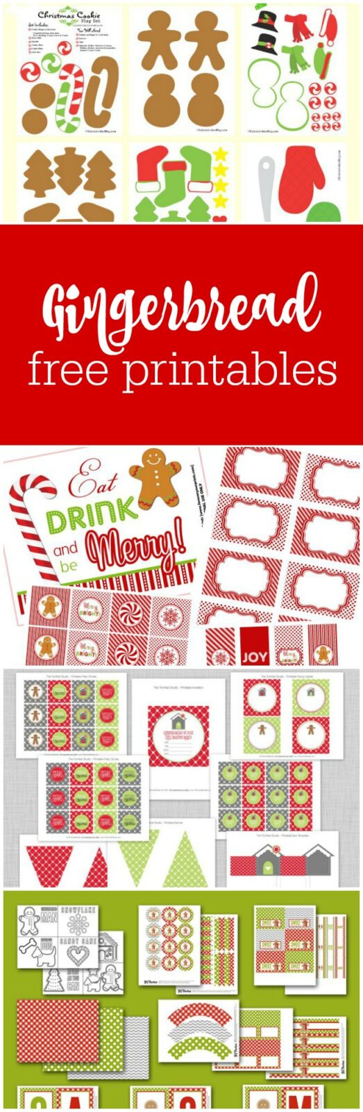 Gingerbread party free printables - includes full party collections curated by The Party Teacher