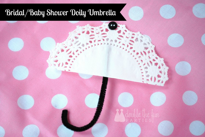 Bridal or baby shower doily umbrella by Double the Fun Parties