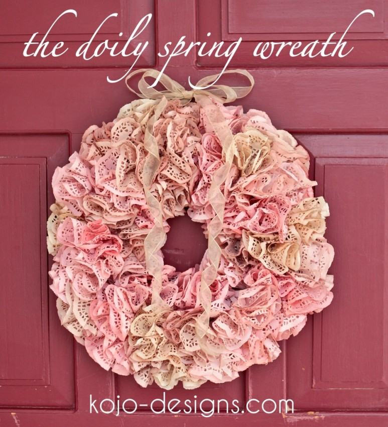 Doily wreath Kojo Designs