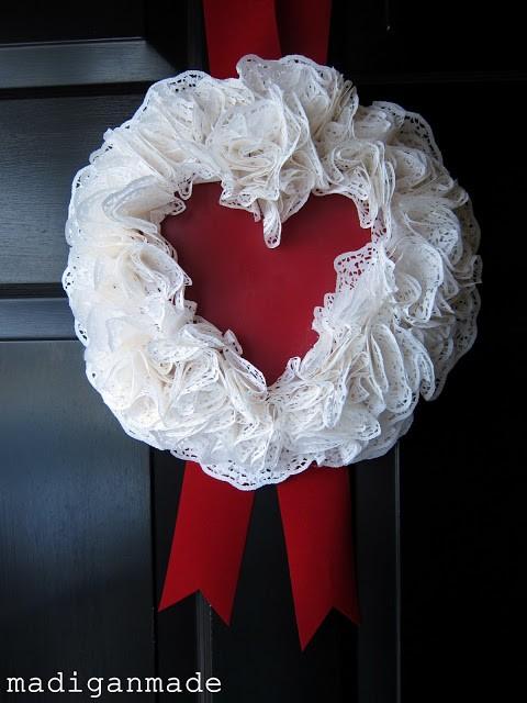 Doily wreath Madigan Made