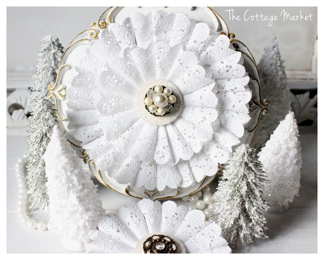 Doily wreath The Cottage Market