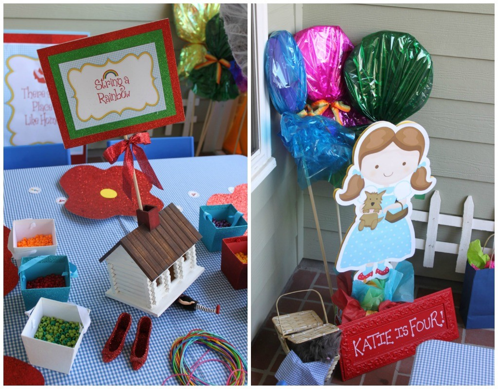 Wizard Of Oz Party Decorations Guest Party Wizard Of Oz 4th Birthday Party