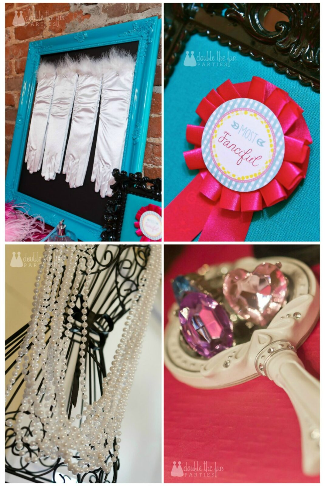 Dress Up Party accessories station by Double the Fun Parties wm