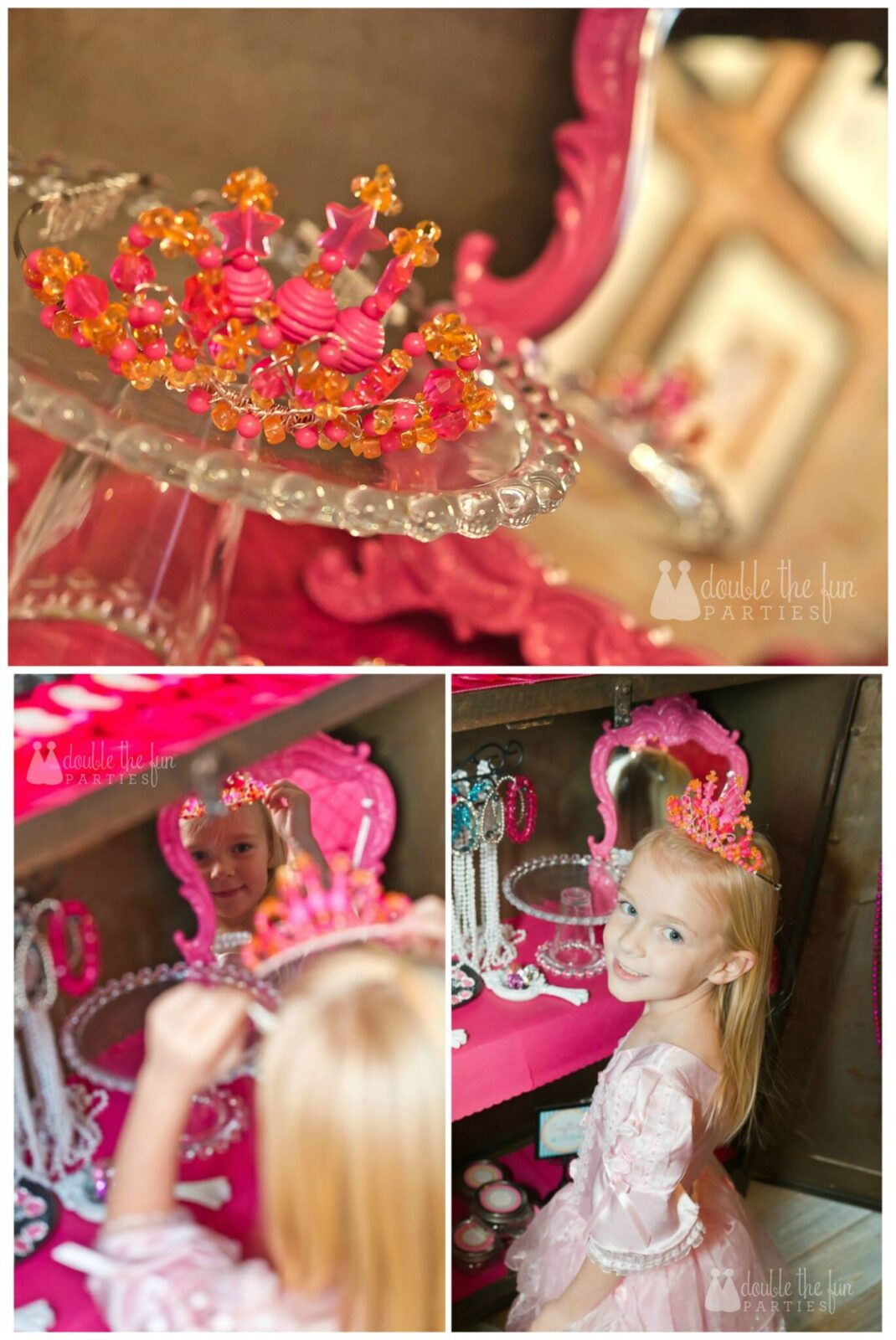 Dress Up Party birthday girl crown by Double the Fun Parties wm