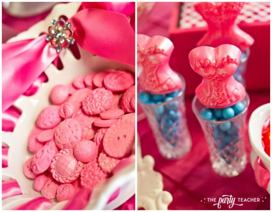 Dress Up Party by The Party Teacher - Chocolate buttons and corset lollipops by Frosted Petticoat