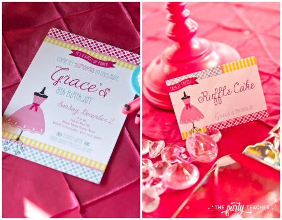 Dress Up Party by The Party Teacher - Invitation and Buffet Card