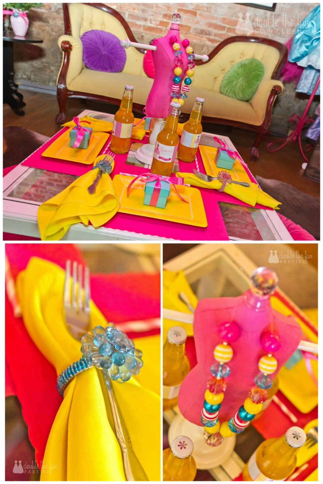 Dress Up Party dining table by Double the Fun Parties wm