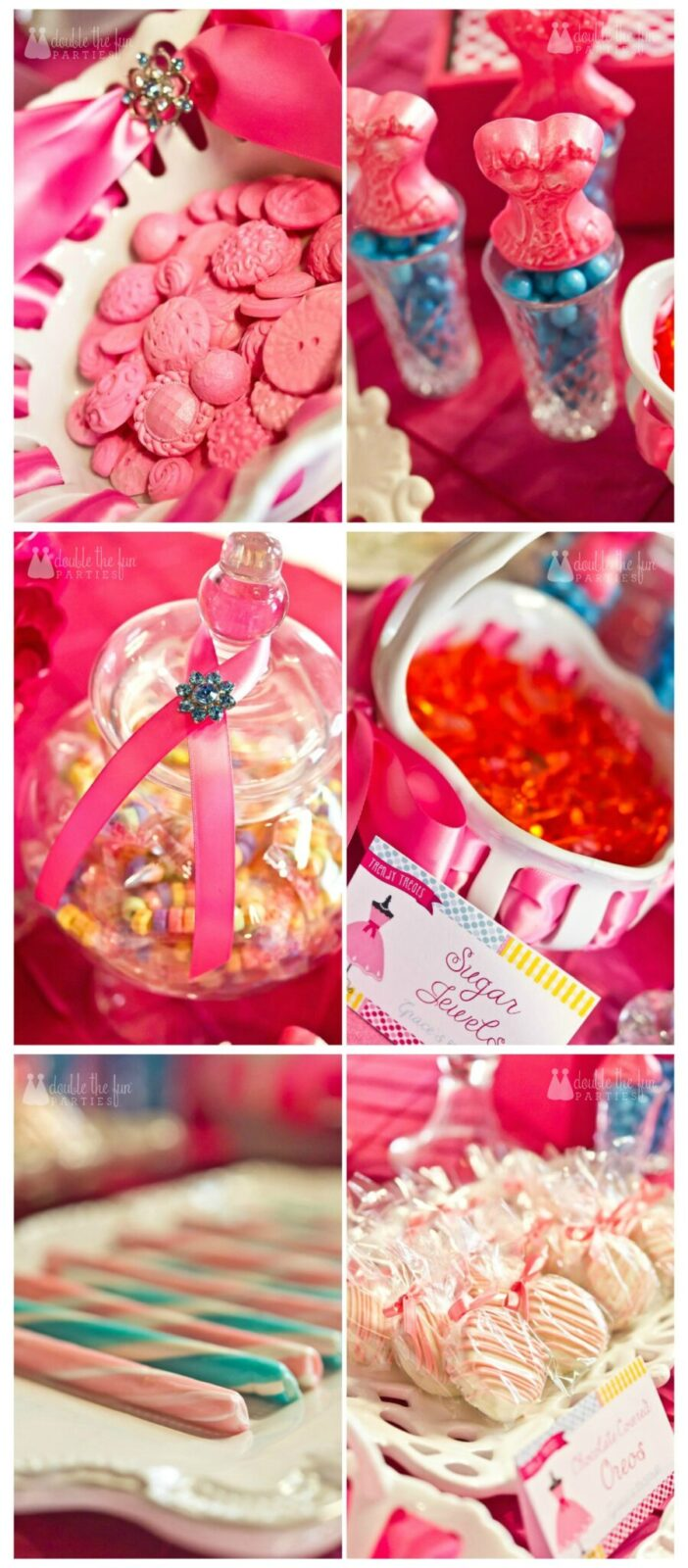 Dress Up Party sweet treats by Double the Fun Parties wm