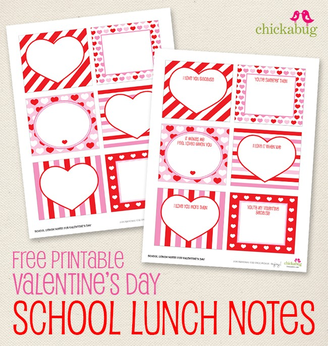 Freebie Friday Cute Valentine S Day Free Printables