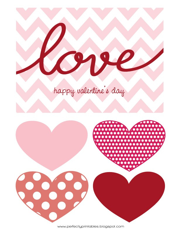 FF Perfectly Printables Valentines free printables
