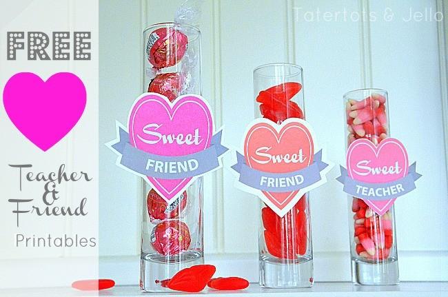 FF Tatertots & Jello Valentines free printables