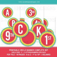 FFs Sarah Hope Designs Alphabet Numbers Banner