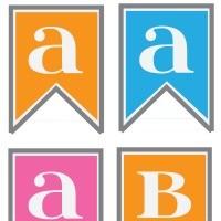 FFs Tatertots & Jello Alphabet Banner