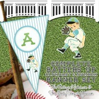FFs The Cottage Market Baseball Alphabet Banner
