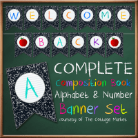FFs TheCottageMarket Composistion Book Alphabet Numbers Banner