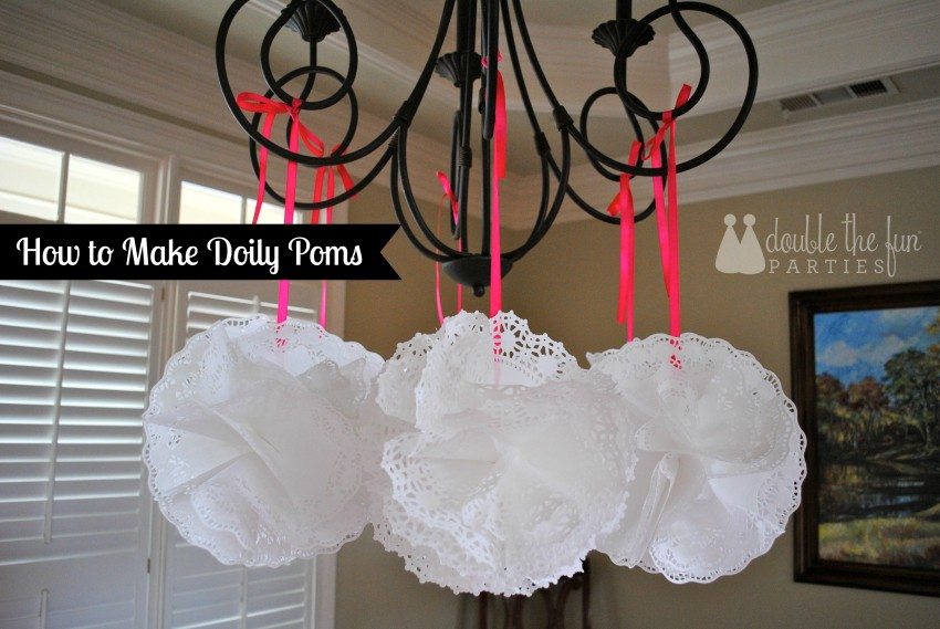How to make doily poms by Double the Fun Parties