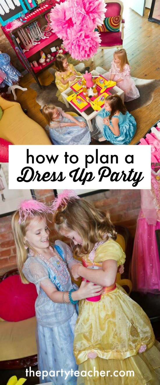How to plan a dress up party by The Party Teacher