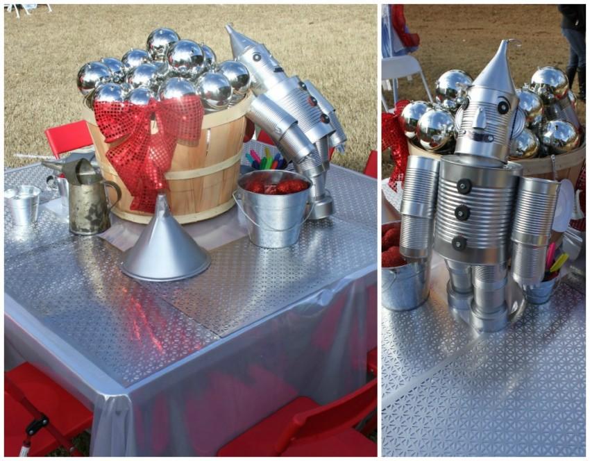 Tin Man Table Collage