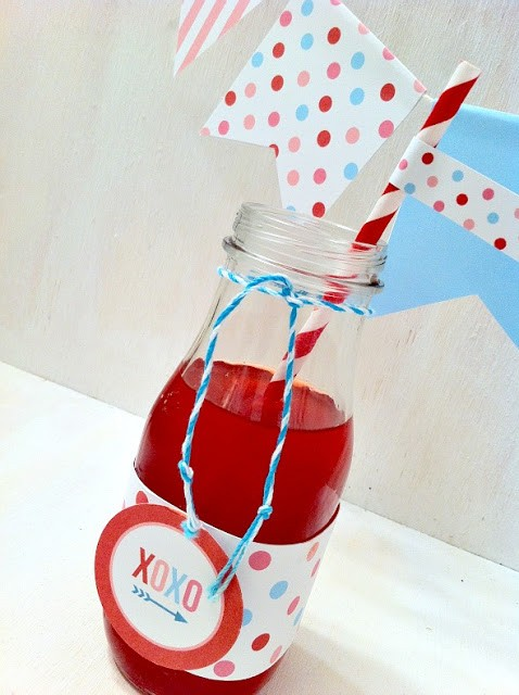 VDAY LOVE DRINK FLAGS_BANNER_Printables