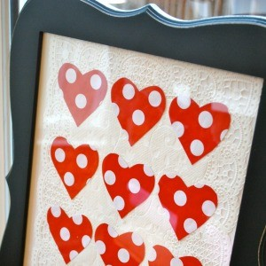 Tutorial: Valentine's Art from Leftover Wrapping Paper