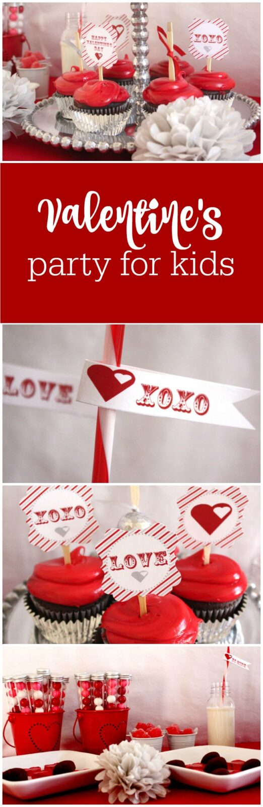 Valentine's Day party for kids by Bella Grey Designs featured on The Party Teacher