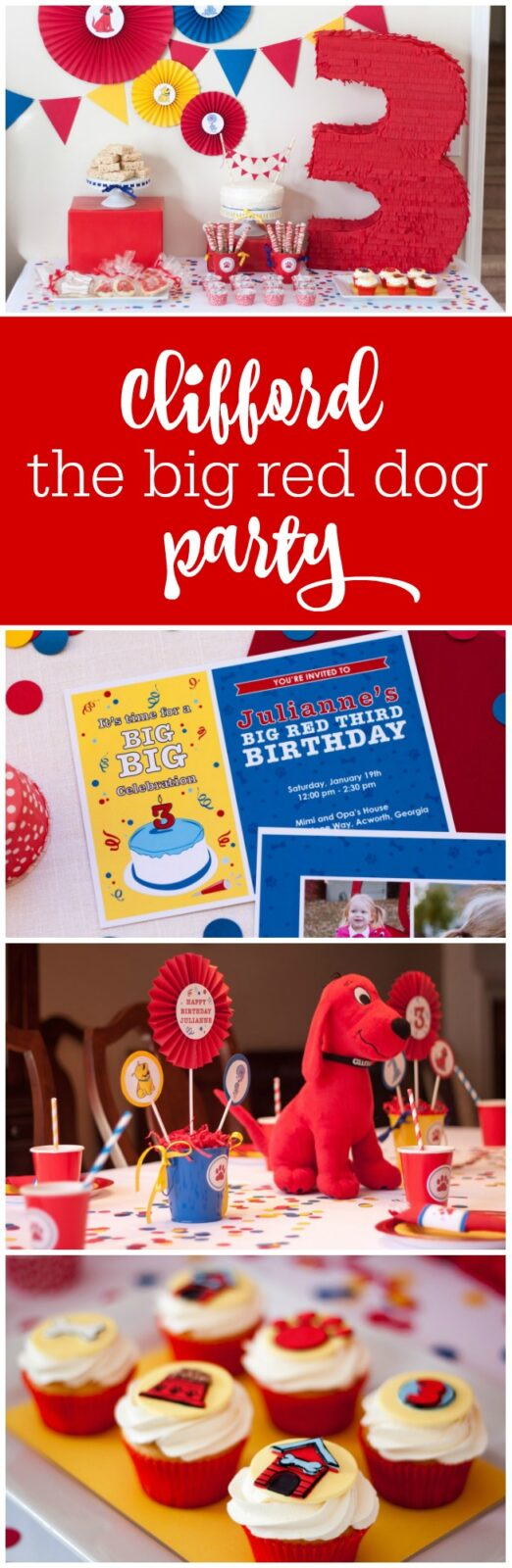 Clifford the Big Red Dog birthday party by Tickled Peach Studio featured on The Party Teacher