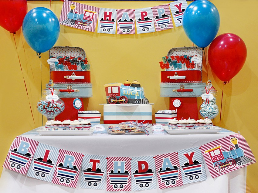Guest Party Choo Train 4th Birthday