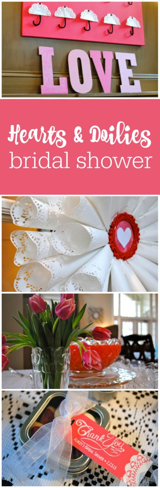 Hearts and doilies bridal shower by The Party Teacher
