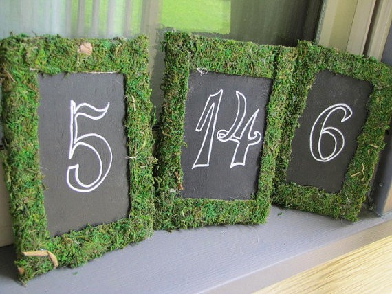 Moss Table Markers Plethora Gifts