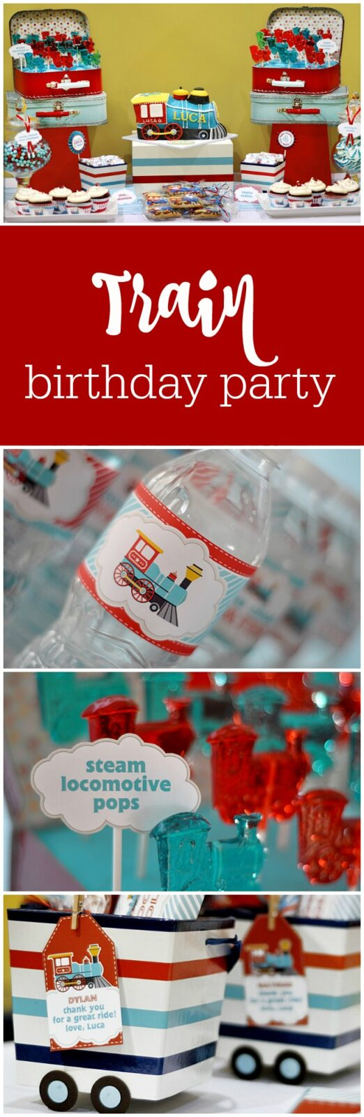 Train birthday party by BluGrass Designs featured on The Party Teacher