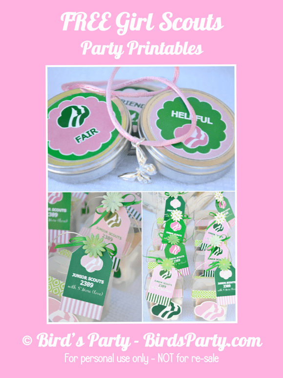 Freebie friday girl scout printables by bird s party