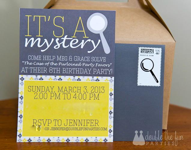 My Parties Nancy Drew Mystery 8th Birthday Party – Clue Party Invitations