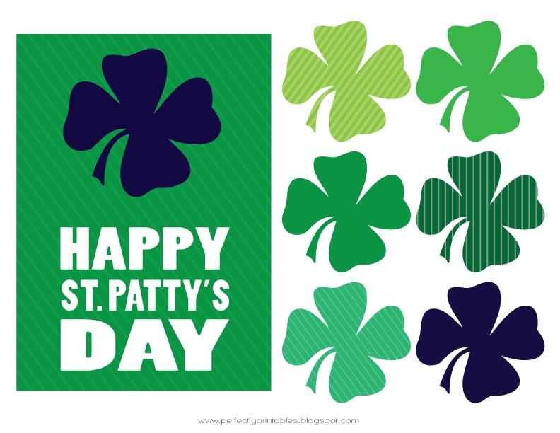 FF Pretty My Party St. Patrick's Day free printables