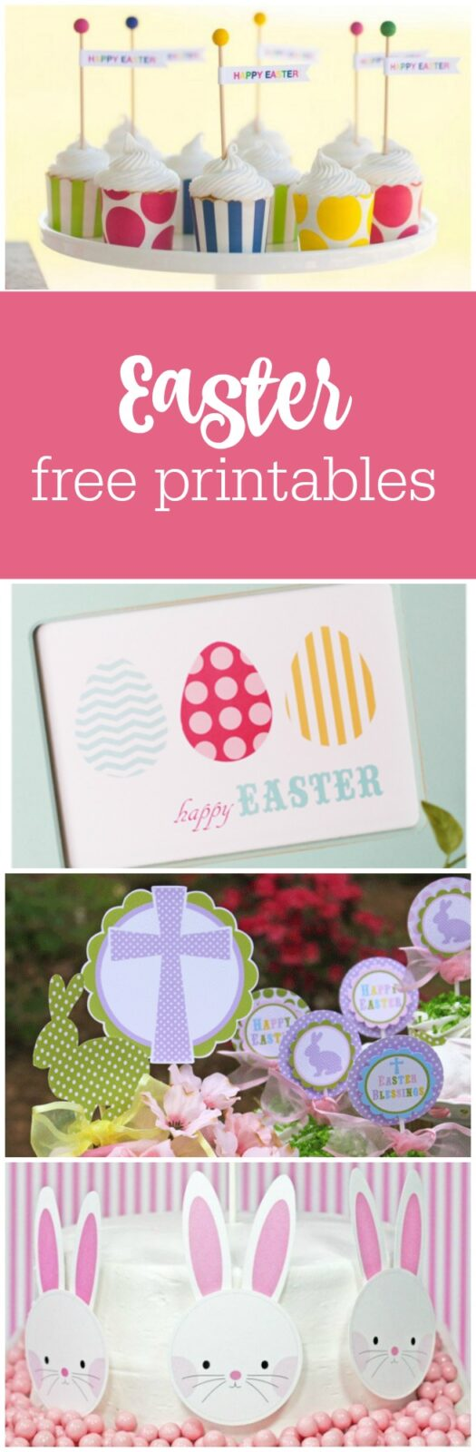 Free Easter printables curated by The Party Teacher