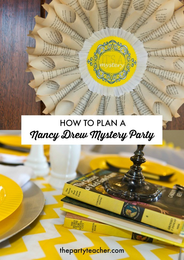 How to plan a Nancy Drew Mystery Party by The Party Teacher