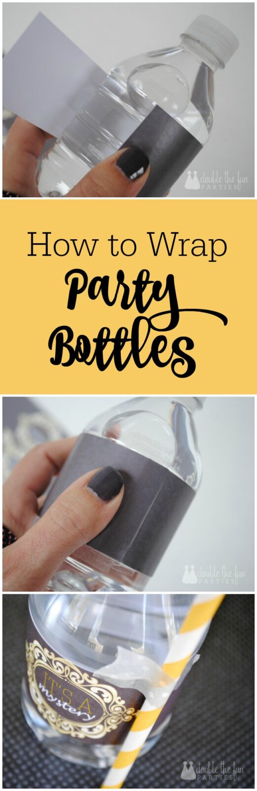 How to wrap water bottles for your party by The Party Teacher