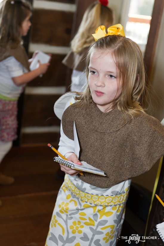 Nancy Drew Mystery Birthday Party by The Party Teacher - detective solving the case