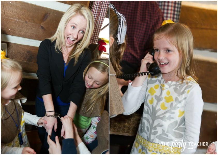 Nancy Drew Mystery Birthday Party by The Party Teacher - arresting the thief