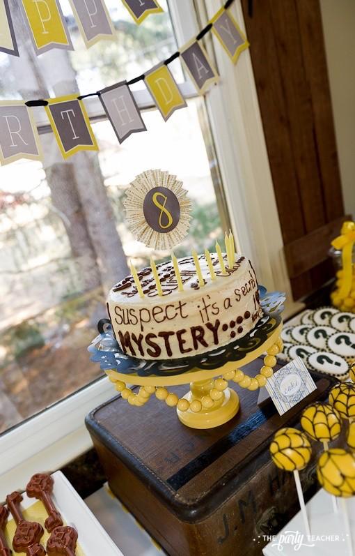 Nancy Drew Mystery Birthday Party by The Party Teacher - birthday cake