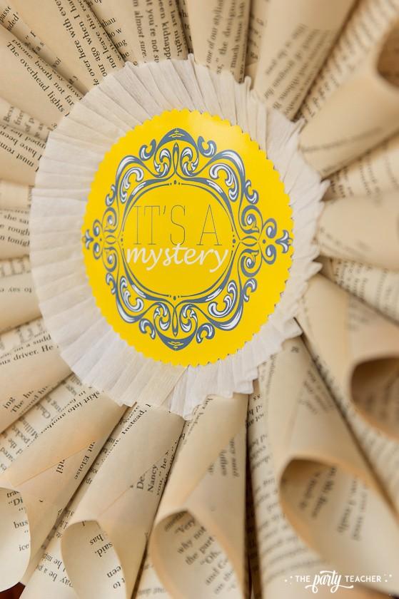 Nancy Drew Mystery Birthday Party by The Party Teacher - book wreath