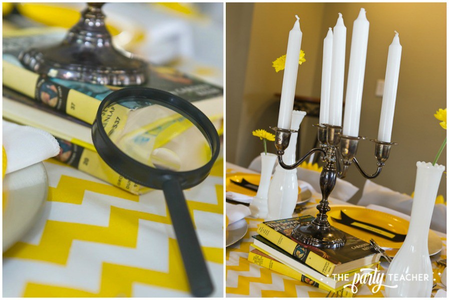 Nancy Drew Mystery Birthday Party by The Party Teacher - candelabra