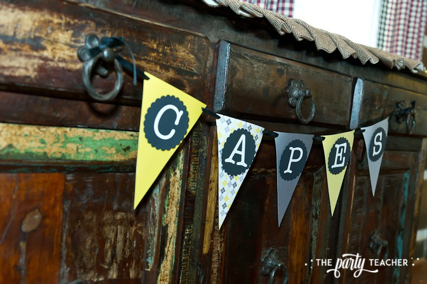Nancy Drew Mystery Birthday Party by The Party Teacher - capes banner