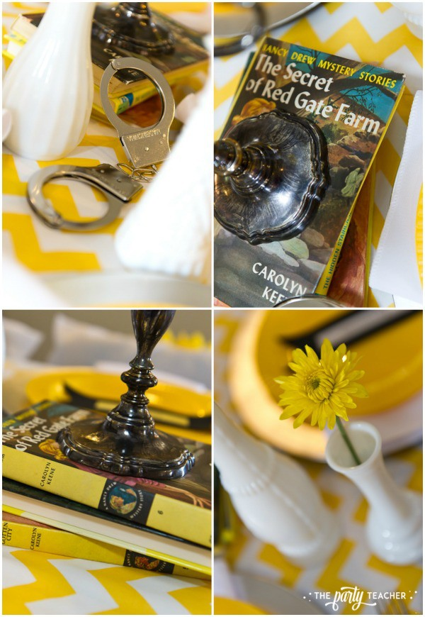 Nancy Drew Mystery Birthday Party by The Party Teacher - centerpieces