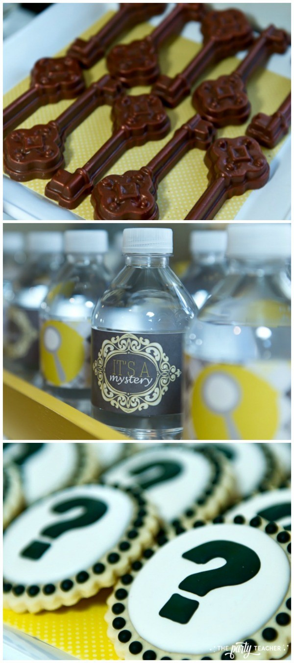 Nancy Drew Mystery Birthday Party by The Party Teacher - dessert table food