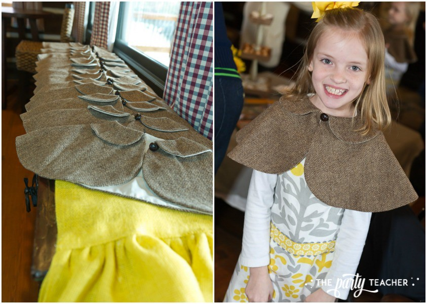 Nancy Drew Mystery Birthday Party by The Party Teacher - detective capes